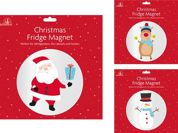 Festive Wonderland Christmas Fridge Magnet - Assorted Picked At Random