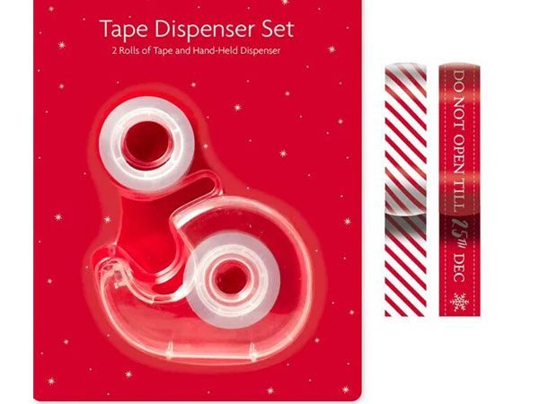 Festive Wonderland - 2 Rolls Of Christmas Tape With Dispenser