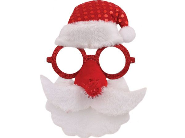Festive Wonderland Festive Santa Glasses With Beard