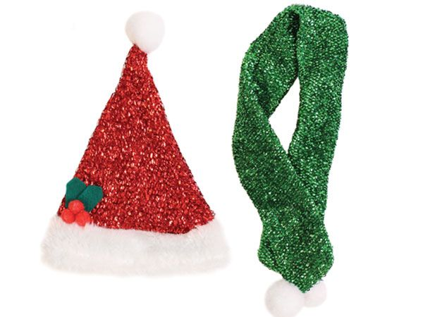 Festive Wonderland Pet Scarf And Hat Set
