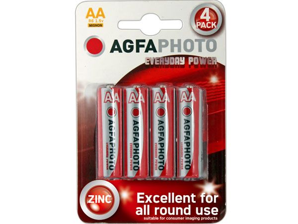 12x 4pk AGFA Everyday AA / R6 Batteries