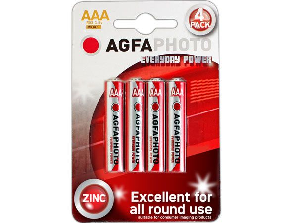 12x 4pk AGFA Everyday AAA / R03 Batteries
