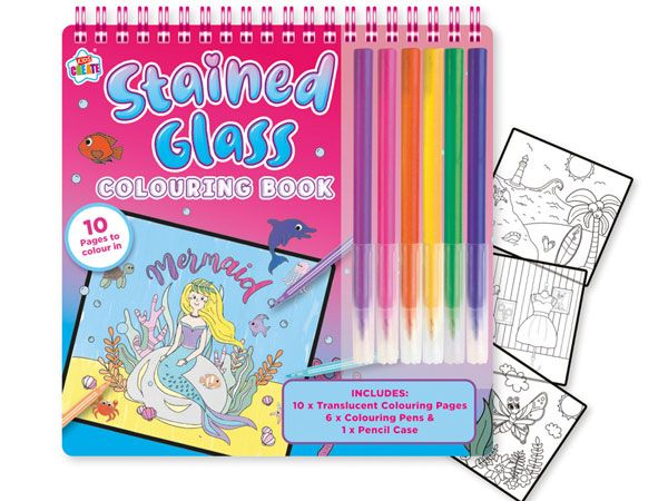 Kids Create Stained Glass Colouring Book