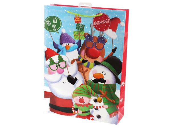 12x Extra Large Christmas Gift Bag - Selfie
