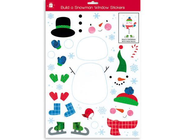 Giftmaker- Build A Snowman Window Stickers