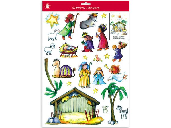 Giftmaker- Build A Nativity Window Stickers