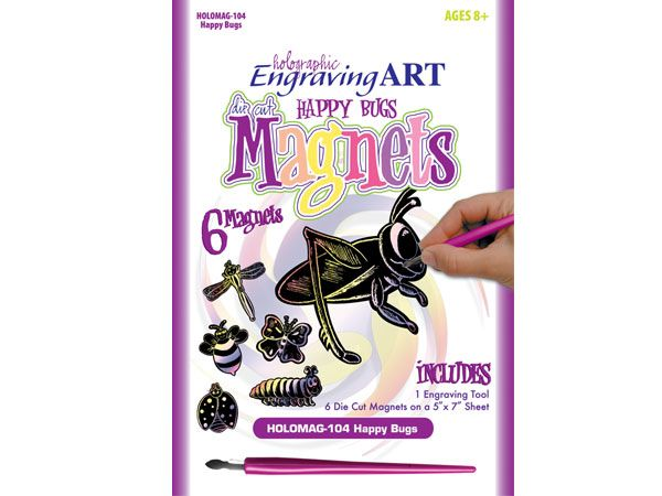 Royal and Langnickel - Magnets Engraving Art Kit, Happy Bugs Design