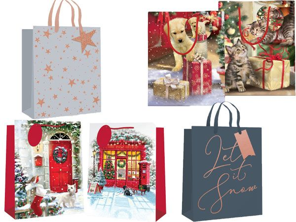 Medium Christmas Gift Bag...Assorted Stock Clearance