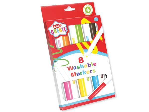 Kids Create 8pk Colouring Washable Markers