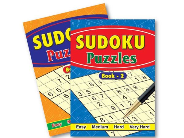 6x Sudoku Puzzles Books - 2 Assorted   (mto)