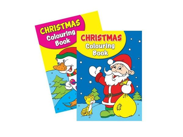 6x Christmas Colouring Book 1 & 2