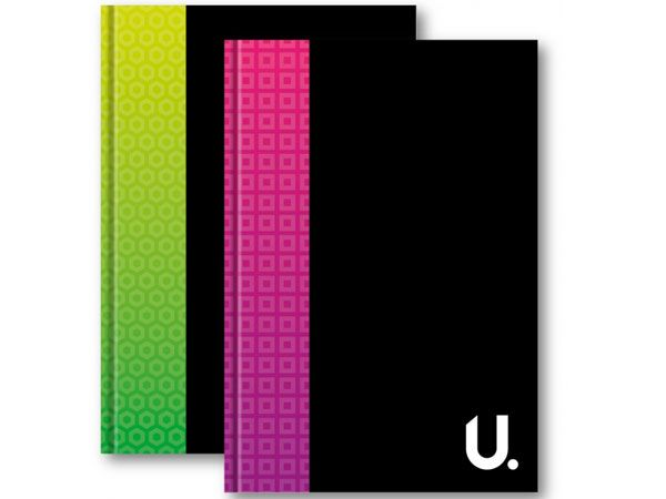 U. A4 Hardback Notebook...Assorted