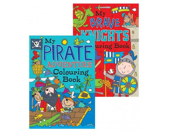 12x Pirates & Knights Colouring Book (mto)