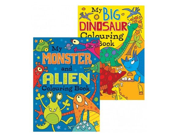 12x Alien Monsters And Dinosaurs Colouring Book (mto)