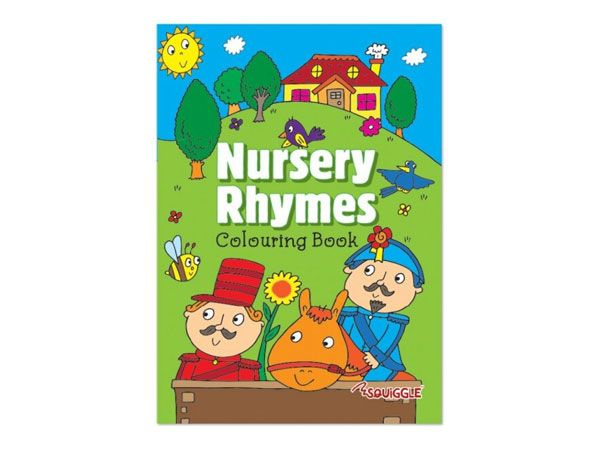 6x Nursery Rhymes  Colouring Book  (mto)