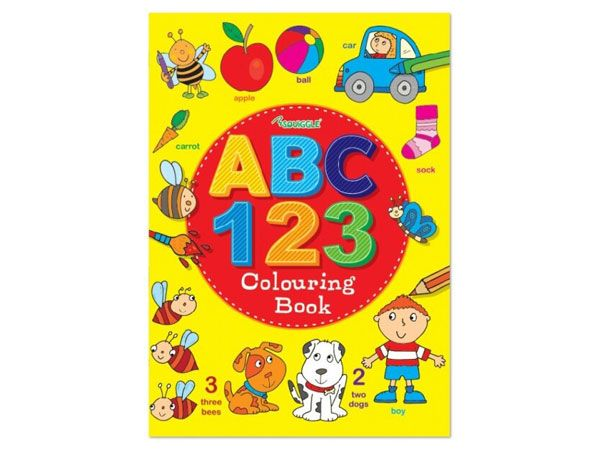 6x ABC 123  Colouring Book  (mto)