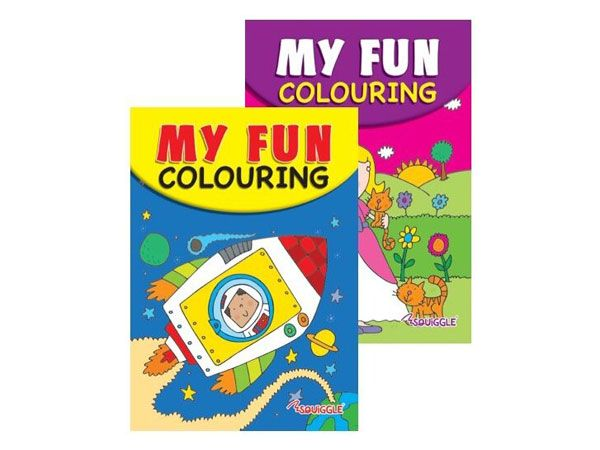 6x Space And Princess A5 Colouring Book  (mto)