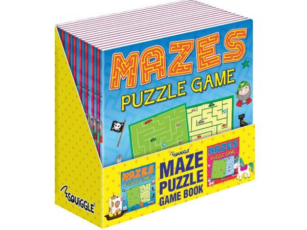 24x Squiggle - Maze Puzzle Game Books, 2 Designs