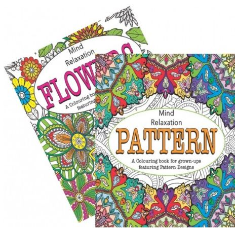 Flowers And Patterns Adult Colouring Book - Stress Relieving, Assorted Picked At