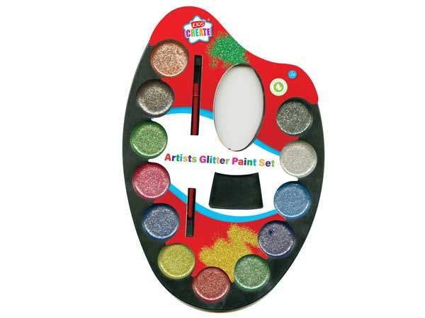 Kids Create Glitter Paint Palette With Brush
