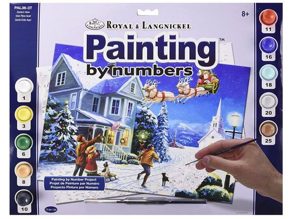 Royal and Langnickel- Large Paint By Numbers, Santas Here
