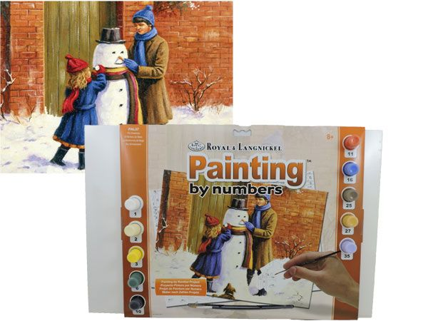 Royal and Langnickel- Large Paint By Numbers, The Snowman