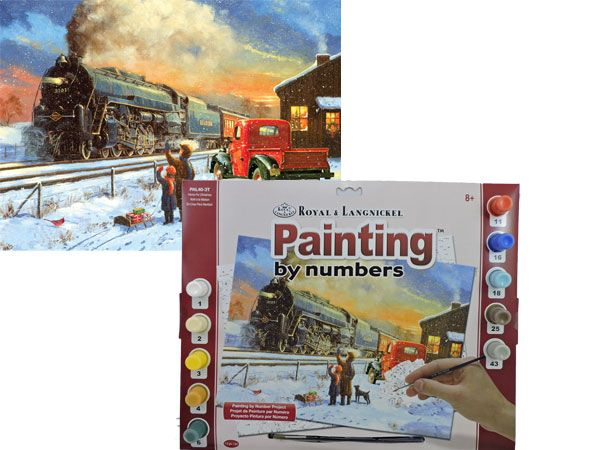 Royal and Langnickel- Large Paint By Numbers, Home For Christmas