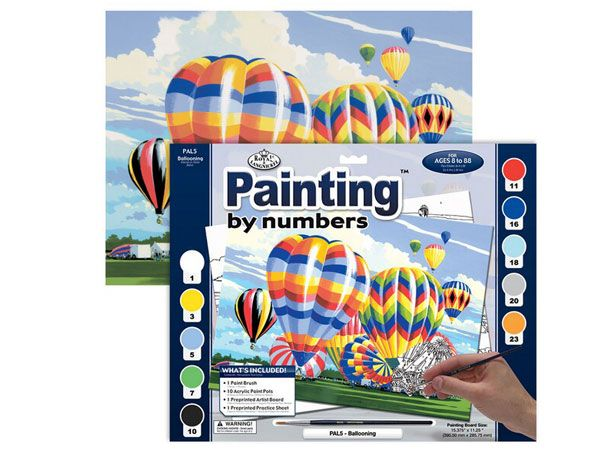 Royal and Langnickel- Large Paint By Numbers, Ballooning Design