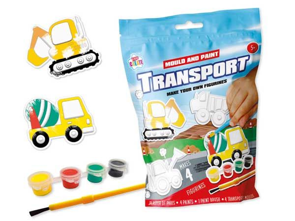 Kids Create Mould And Paint Your Own Transport Figurines