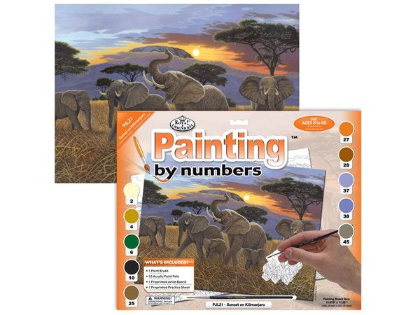 Royal and Langnickel- Large Paint By Numbers, Sunset On Kilimanjaro