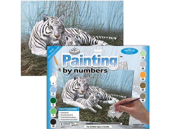 Royal and Langnickel- Large Paint By Numbers, White Tigers