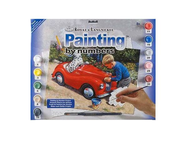 Royal and Langnickel- Large Paint By Numbers, Car Wash Design
