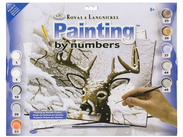 Royal and Langnickel- Large Paint By Numbers, Dancing Snow