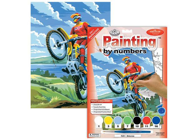 Royal and Langnickel- Paint By Numbers,Motorcross Design