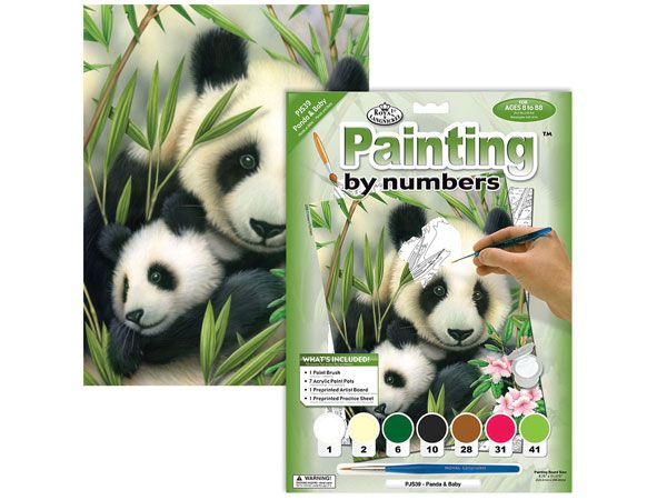 Royal and Langnickel- Paint By Numbers, Panda And Baby
