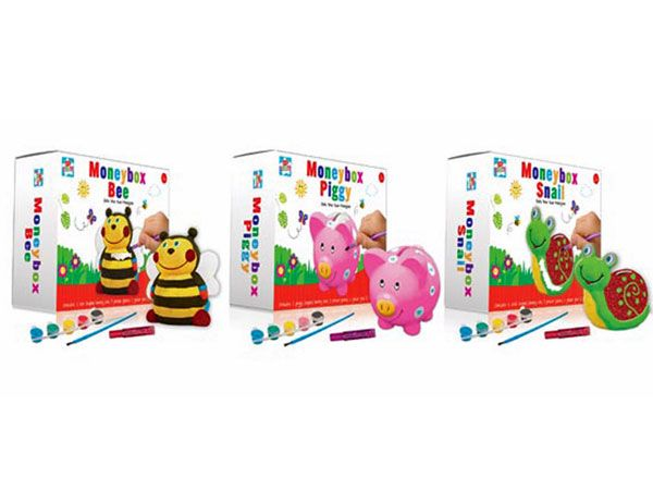 Kids Create Paint Your Own Money Box - Assorted, Picked At Random