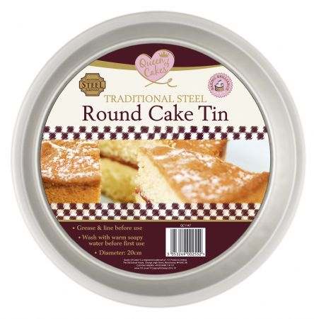 Queen Of Cakes Traditional Steel Round Cake Tin, by 151 Products