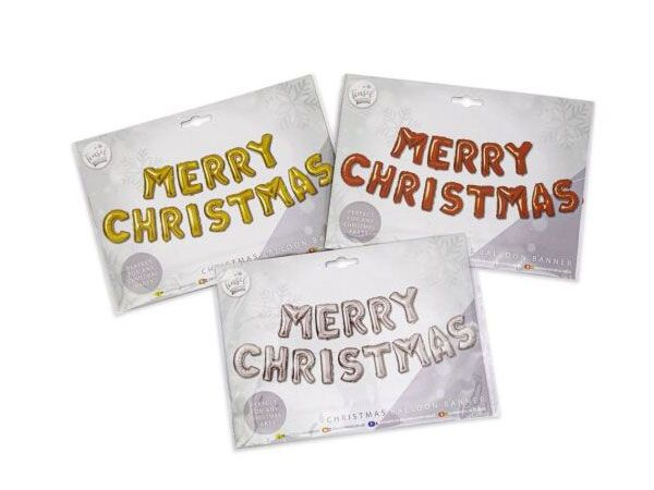 Tinsel Town Christmas Balloon Banner - 3 Assorted