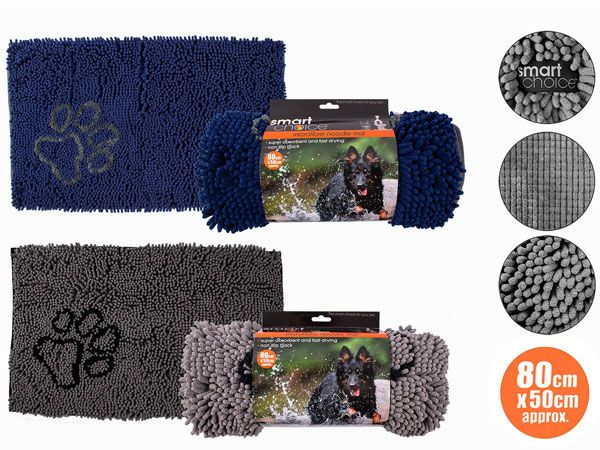 Smart Choice Microfibre Noodle Pet Mat, Assorted Picked At Random