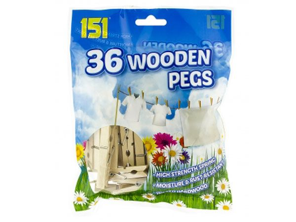 36pk Wooden Pegs, by 151 Products