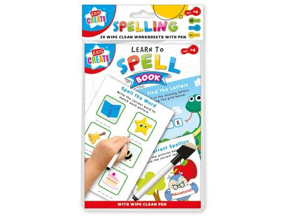 Kids Create Educational - Wipe Clean Spelling Book