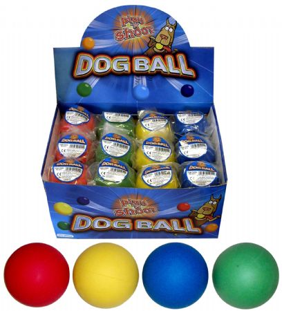 24x Hard Rubber 63mm Dog Balls