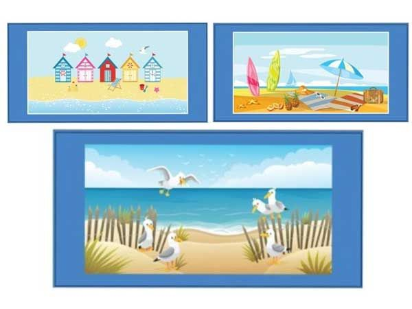 140x70cm Microfibre Beach Towel, Assorted Picked At Random
