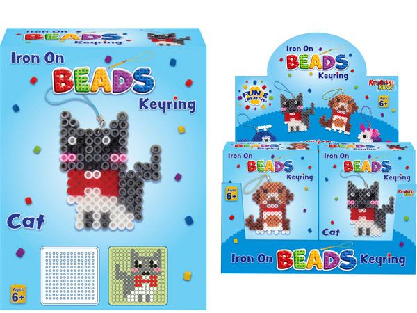 Kreative Kids Iron On Picture Beads Keyring - Assorted, Picked At Random
