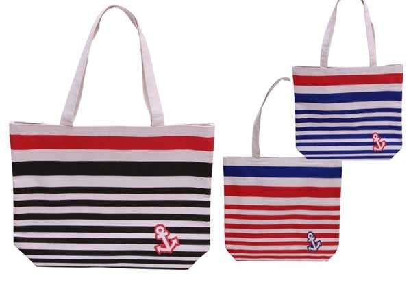 Striped Beach Bag , Assorted Picked At Random