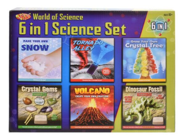 World Of Science - 6 In 1 Science Set