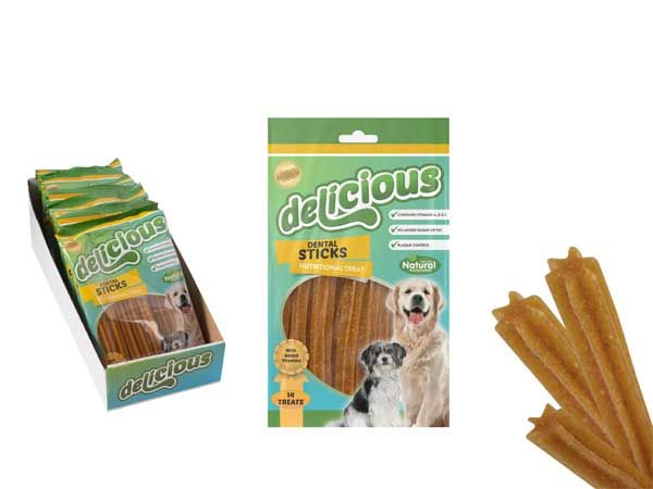 World Of Pets - Delicious 10 piece Tasty Healthy Dental Sticks