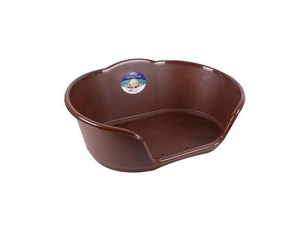 Sweet Dreams Small Plastic Pet Bed - Brown