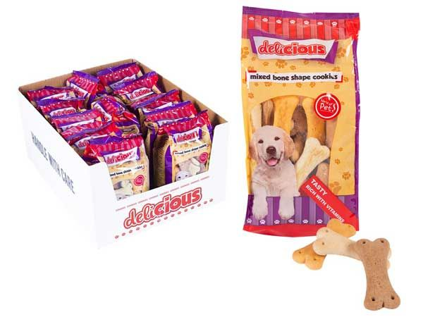 World Of Pets - Mixed Bone Shaped Cookies