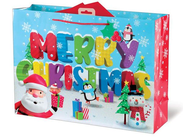 12x Extra Large Christmas Gift Bag - 3D Characters